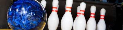 Eine Bowlingbahn