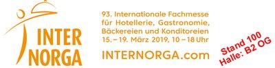 INTERNORGA vom 15. bis 19. März 2019  in Hamburg