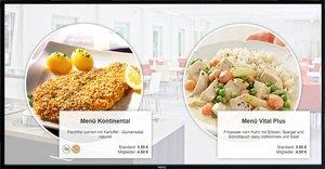 Menüausschilderung Kantine Betriebsrestaurant