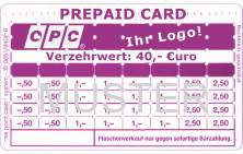 Lochkarte OPC Verzehrkarte Prepaid Muster mit Logo