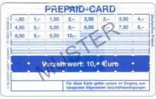 Lochkarte OPC Verzehrkarte Prepaid Muster