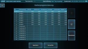 One Point Cash Software Kartenprogrammierung